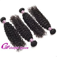 reina de malasia pelo virgen rizado al por mayor-Colorido Queen Malaysian Virgin Hair Kinky Curly Weave 4 paquetes 100% de trama de cabello humano para trenzas micro Mujeres negras Peinados Kinky Curly
