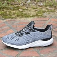 Wholesale Rubber Bounce Shoes - 2017 Hot New Style Alpha Bounce Boost Running Shoes Men Women Kanye West Lightweight Basketball Shoes Sneaker Sports Shoes 36-45 With Box