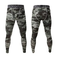 Wholesale Grey Camo Pants - Wholesale- Sports running pants men jogging Camo Graffiti Compression men tights training pantalon broekpak mallas hombre Gym man leggings