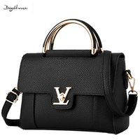 Wholesale Red Shoulder Top - Wholesale- 2016 designer female Elegant Shoulder bags famous brand women Top-handle bags sac a main 2016 luxury leather small handbags