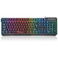 laptop mais alto venda por atacado-Alta Qualidade MotoSpeed K70 Ergonômico 7 LED Colorido Backlight USB Com Fio Gamer Gaming Keyboard USB Alimentado para Desktop Laptop Teclado Gamer