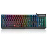 Wholesale Keyboards Laptops - High Quality MotoSpeed K70 Ergonomic 7 LED Colorful Backlight USB Wired Gamer Gaming Keyboard USB Powered for Desktop Laptop Teclado Gamer