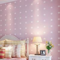 amerikanischen stil tapete groihandel-American Style Vliestapete Moderne Cartoon Sterne Kinderzimmer Schlafzimmer Wanddekorationen Wohnzimmer Tapete Für Wände