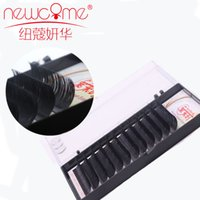 Wholesale Row C - Newcome eyelash extension 12 rows case 8-15mm all size Soft Material makeup tool hand made individual 3D lashes
