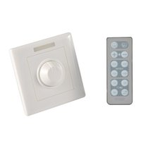 Wholesale Ir Remote Control Switch - 300W Knob PWM Triac Wireless LED Dimmer Switch For Dimmable LED ceiling Downlights Panel light bulbs with 12key IR remote 110v 220v