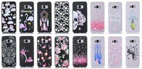 Unicorn Skull Flower Soft TPU Case pour Galaxy S8, S8 Plus Matte Clear Silicone Gel Dreamcatcher Coeur Love Flamingo Cartoon Back Skin Cover