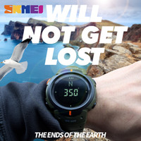 Wholesale Acrylic Compass - SKMEI Outdoor Men Compass Sports Watches Hiking LED Electronic Digital Watch Man Chronograph Wristwatches Relogio Masculino 1231