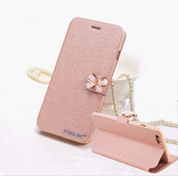 Wholesale Diamond Bling Bow Case - Luxury Leather Wallet Card Magnetic Flip Bling Diamond Butterfly bow knot Case For iPhone 5S SE 6 6S Plus Cases W  Stand Holder