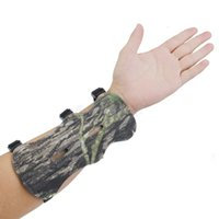 Wholesale Archery Guard - Wholesale- Camo Archery Bow Arm Guard Protective Forearm Safe Gear 3 Straps Armguard Bow Protection