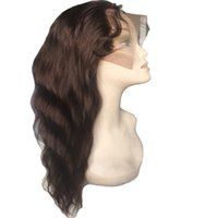 Wholesale High Quality Remy Hair Wigs - High quality cheap 100% brazilian remy full lace wig, lace front wig with baby hair epacket shipping free