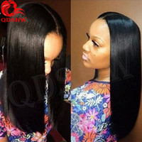 Wholesale Glueless Wig Natural Part - Human Virgin Upart Wig Natural Straight Virgin Indian Human Hair u Part Wig Glueless u Part Human Hair Wigs For Black Women