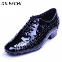 Wholesale Modern Flamenco - TOP Sneakers DILEECHI new arrival adult men's modern dance shoes black leather Latin dance shoes sandals sneakers men teacher dance shoes