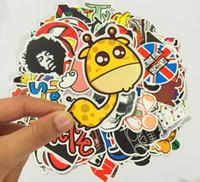 Wholesale Cute Animal Stickers - Good Quality 100pcs lot Multi Design Random Music Film Vinyl Skateboard Guitar Travel Doodle Graffiti Decal Cute Fashion Car Funny Stickers