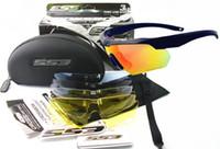 ess lentilles arbalètes achat en gros de-Lunettes de cyclisme ESS CROSSBOW TR90 UV400 avec 5 lentilles tactiques Armée pare-balles Lunettes de tir Lunettes de soleil Sports de plein air