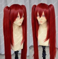 Бесплатная доставкаPopular Fairy Tail Scarlet Red Cosplay Wig + Two Clip on Ponytail