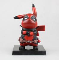 kırmızı pikapu toptan satış-Deadpool Action Figure Pikachu Cosplay Deadpool Koleksiyon Model Oyuncak 150mm Pikachu Superhero Oyuncaklar Gri / Kırmızı Kutulu