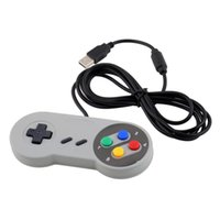 Wholesale- Retro Gaming pour SNES USB Wired Classic GamePad Joystick Controller pour Windows PC Six boutons numériques DZ0246