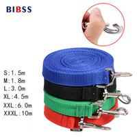 Wholesale Large Bells - Wholesale- Dog Pet Lead Leash for Dogs Cats Red Green Blue Nylon Walk Dog Leash Selectable Size Outdoor Security Training Dog Harness
