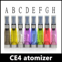 Electronic Cigarette tank ego ce4 Atomizer vaporisateur tanks 1.6ml eGo T CE4 Cartomizer Black Tips E-cigarette Clearomizer
