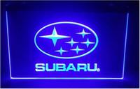 Wholesale led residential lighting - b191 subaru- logo bar pub club 3d signs led neon light sign home decor crafts
