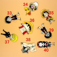Vente en gros - ONE PIECE Brochure en acrylique de dessin animé Badges Luffy Broche Décoration Aéronef Sac à dos Broches décoratives Pin sur vêtements Sac Décor