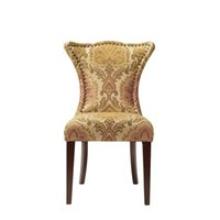 Wholesale High quality high back wooden solid wood carved dining chair