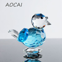 Wholesale Collections Money - Cute Glass Crystal Birdie Figurines Crafts Art&Collection Table Car Ornaments Souvenir Home Decor Children Birthday Gifts