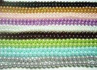 perles de verre en vrac 8mm achat en gros de-250pcs / lot lâche perles en verre pour les bijoux de bricolage artisanat 8mm mélanger les couleurs MP05 livraison gratuite