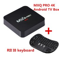 Wholesale Mini Hdmi Keyboard - Android 6.0 TV Box MXQ Pro 4K Rockchip RK3229 Quad Core Fully Loaded Smart TV Box with Wireless Keyboard rii mini i8 remote control
