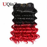 Wholesale Uqinz hair new Arriva Hot Omber curly pieces Hair Weave Bundles With Closure and band