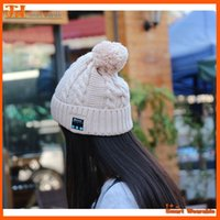 Wholesale Magic Top Hats - Wireless Bluetooth V3.0 Smart Woolen Knit Beanie Winter Sport Hat Headphone Headset Hands-free Music Magic Cap,Mp3 Speaker Music