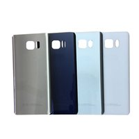 Wholesale Note Flip Battery Cover - For Samsung Note5 Back Cover Glass housing Battery Cover Glass Door Case For Samsung Galaxy Note 5 N920 N920F Back Glass Free Shipping