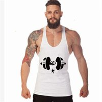 Wholesale Loose Tank Top Pattern - Men's Print Cotton Loose Muscle Fitness Tank Tops Men Pattern Casual Active Workout Bodybuilding Sleeveless T-Shirt Tanks Vests