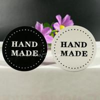 Wholesale Free Craft Labels - 800pcs Black & White Handmade Sticker   Label Scrapbooking & Craft free shipping