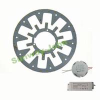свет круглой панели оптовых-Новый светодиодный круговой светильник Круглый круговой потолочный светильник SMD 5730 Светодиодная панель 10 Вт 12 Вт 15 Вт 18 Вт 21 Вт 24 Вт + AC85-265V CE UL драйвер + магнитный