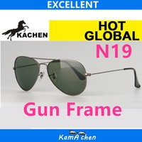 Wholesale Gun Frame - KaChen N19 58 62mm uv400 G15 GLASS LENS GUN frame UV400 protection sunglasses glasses men women