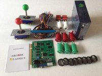Wholesale Kit Harness - 1set Arcade parts Bundles kit with 60 in 1 PCB,16A Power Supply,L Joystick,Push button,Microswitch,Harness,Speaker for cabniet