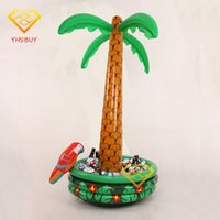 Wholesale Inflatable Christmas - Wholesale- Inflatable Palm Tree With Parrot Cooler Ice Bucket Christmas Decoration Halloween Party Supply Coconut Tree Toys Hot Selling