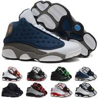 Wholesale Lowest Price Men S Shoes - Cheap Price Retro XIII 13 CP3 Basketball Men Shoes Retro 13s Black Orion Blue Sunstone Athletics Sneakers Sports shoe Retro 13's Trainers