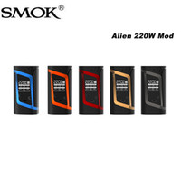 Wholesale Fit For Baby - Smok Alien Mod Alien mod 220w VW Temp Control Function Alien TC Box Mod fit for Smok TFV8 Baby Tank 100% Original