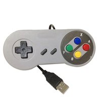 Wholesale Replacement Shocks - Classic USB Controller PC Controllers Game pad Joystick Replacement for Super Nintendo SF for Tablet PC MAC