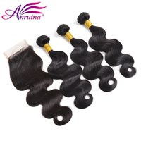 Top Lace Closure + 3 Pcs Mongolian Virgin cheveux Cheveux mongols Cheveux tissés Body Wave Hair Bundles peuvent être teints Best Quality Free Shipping