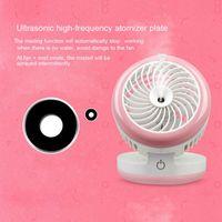 Wholesale Wholesale Wound Cares - 3-in-1 Design Face Spray Facial Steamer Desk Fan MINI USB Charging Personal Mini Humidifier Water Mist Sprayer Fan Skin Care 0609041