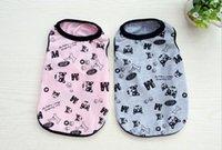 Wholesale Cheap Free Dog Clothes - 1 Piece New Fashion Pet Dogs Clothes Sleeveless T-Shirts Apparel dog Cute and prettyclothes cheap free shipping 4-2112
