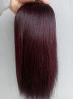 Wholesale new yaki - new arrival brazilian virgin yaky hair weft clip in light yaki straight human hair extensions 99J color