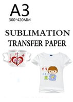 Wholesale Heat Transfer Paper A3 - 50 Sheets A3 size Sublimation heat transfer paper,100gsm paper,usage in Clothing,T-shirt, Cup,Pillow etc