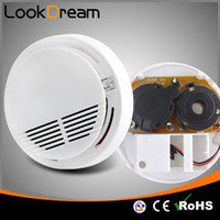 Wholesale Smoke Detectors Optical - LookDream Home Security Optical Home Fire Alarms Smoke Detector With Battery Good Quality Standard Factory Director sales