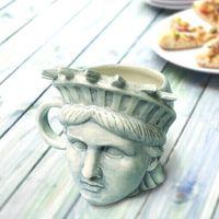 Wholesale Starbucks Ceramic Coffee Cups - Creative American Statue Of Liberty Mug Free goddes 3D stereoscopic head sculpture Relief ceramic coffee cup 300ml for Starbucks coffee milk