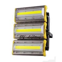 luces de jardín amarillas cálidas al por mayor-150W LED de luz exterior FloodLight Square Garden Lámpara comercial Blanco cálido Rojo Verde Azul Oro Amarillo impermeable IP66 Bombilla Luz de inundación