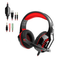 Aottom Professional Over-ear Stereo Gaming Headset Headband Cuffie PS4 con microfono Bass LED per PC Laptop Tablet Xbox C-Red GM02